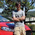 Bryan standing with the Motlen Orange Fiesta ST Pace Car