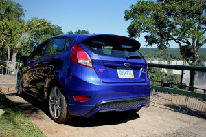 The tailpipes need to come out a little further on the Fiesta ST